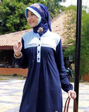 Zenitha Koleksi Busana Muslim Ukuran Big Size biru tua muda
