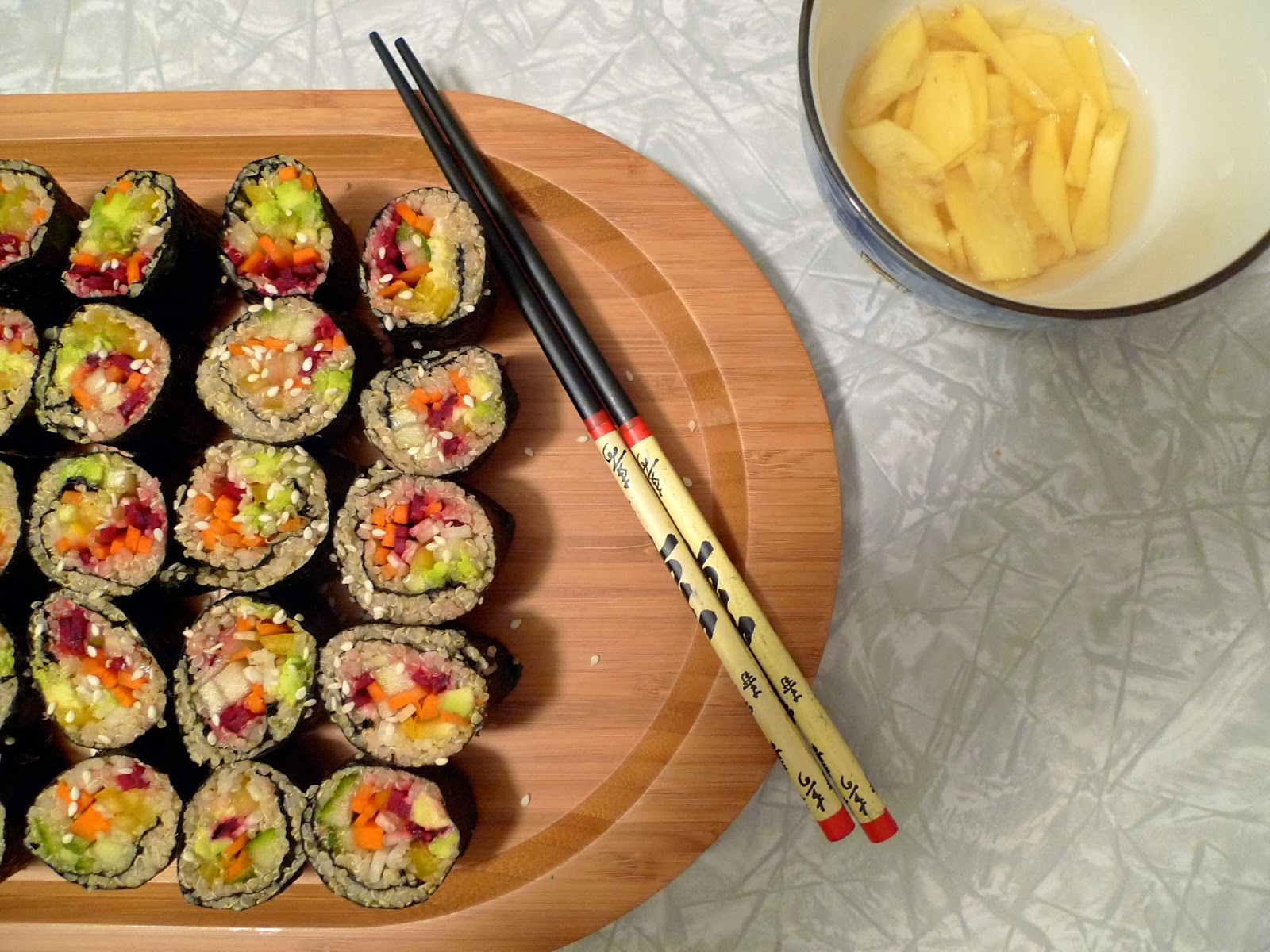 ... sushi. But, never fear! Quinoa sushi is here! This was absolutely