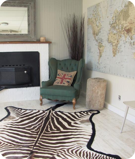 My House Of Giggles: Zebra Skin Rug FOR SALE