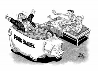 Pork barrel,reaction paper, art, scam, government