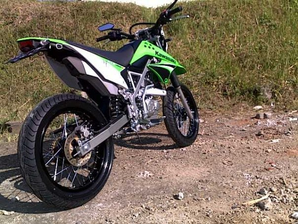 Modifikasi motor  Kawasaki KLX 150 mighty difficult terrain while
