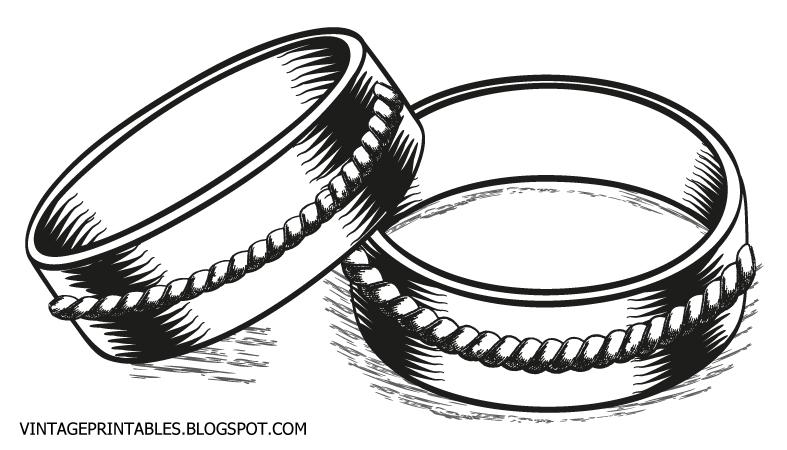Vintage Wedding Rings Clip Art