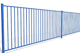 Забор металлический из профильной трубы. Фото 14