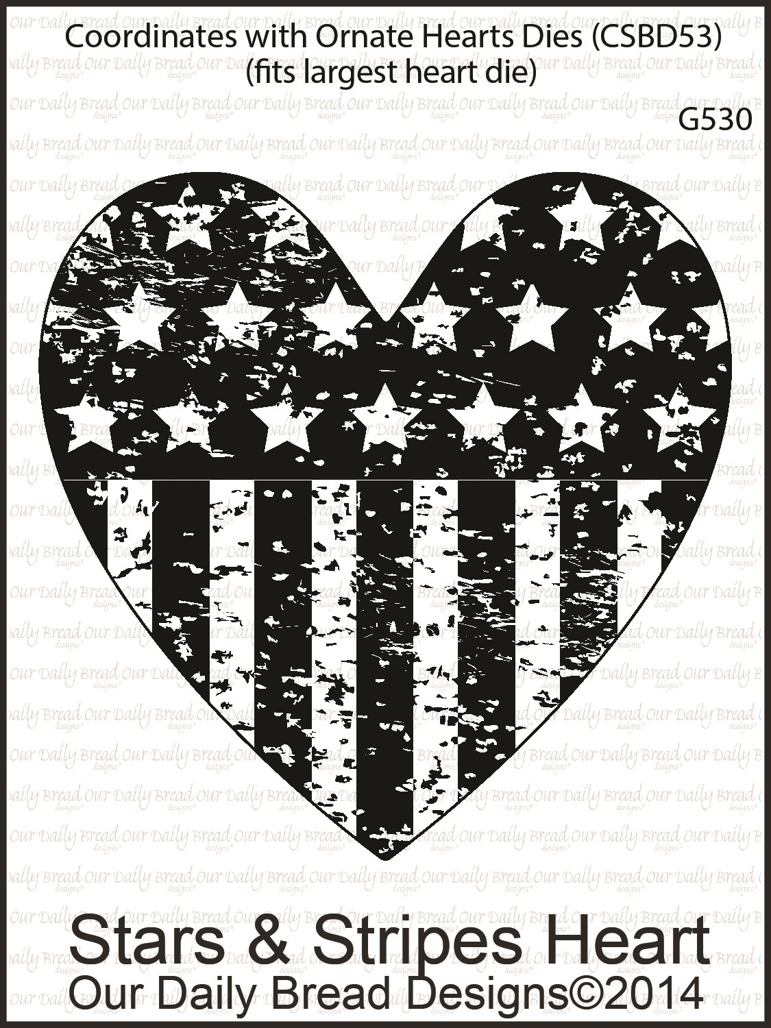 Stamps - Our Daily Bread Designs Stars & Stripes Heart
