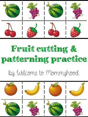 FREE Summer themed cutting and patterning practice for toddlers and preschoolers by Welcome to Mommyhood #toddleractivities, #montessoriactivities, #freeprintables