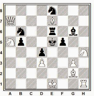 Problema de mate en 2 compuesto por Francisco Armengol (La Vanguardia 1935)