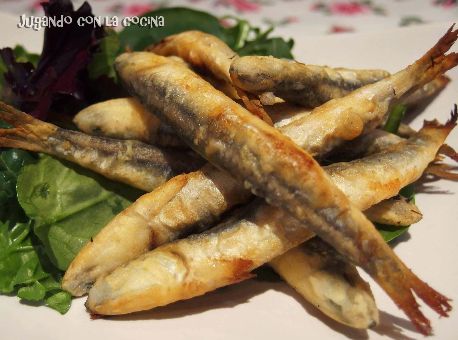 Como Cocinar Boquerones | Jugando Con La Cocina Boquerones Fritos En Harina De Garbanzos Al