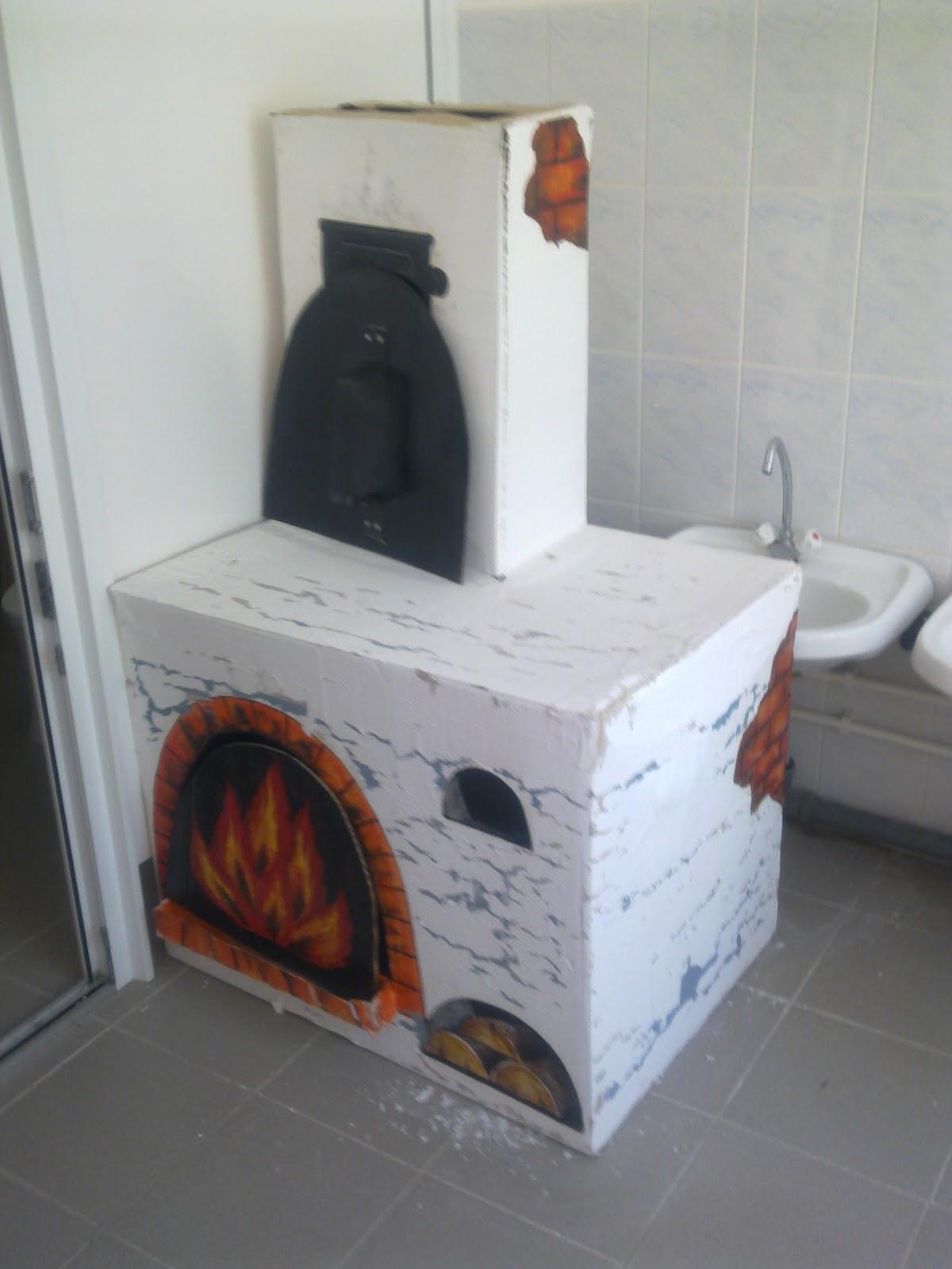 Русская печка из картона своими руками фото