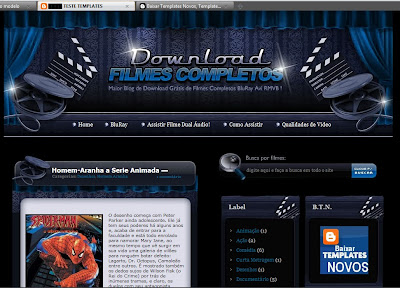 Template Download Filmes para blogger