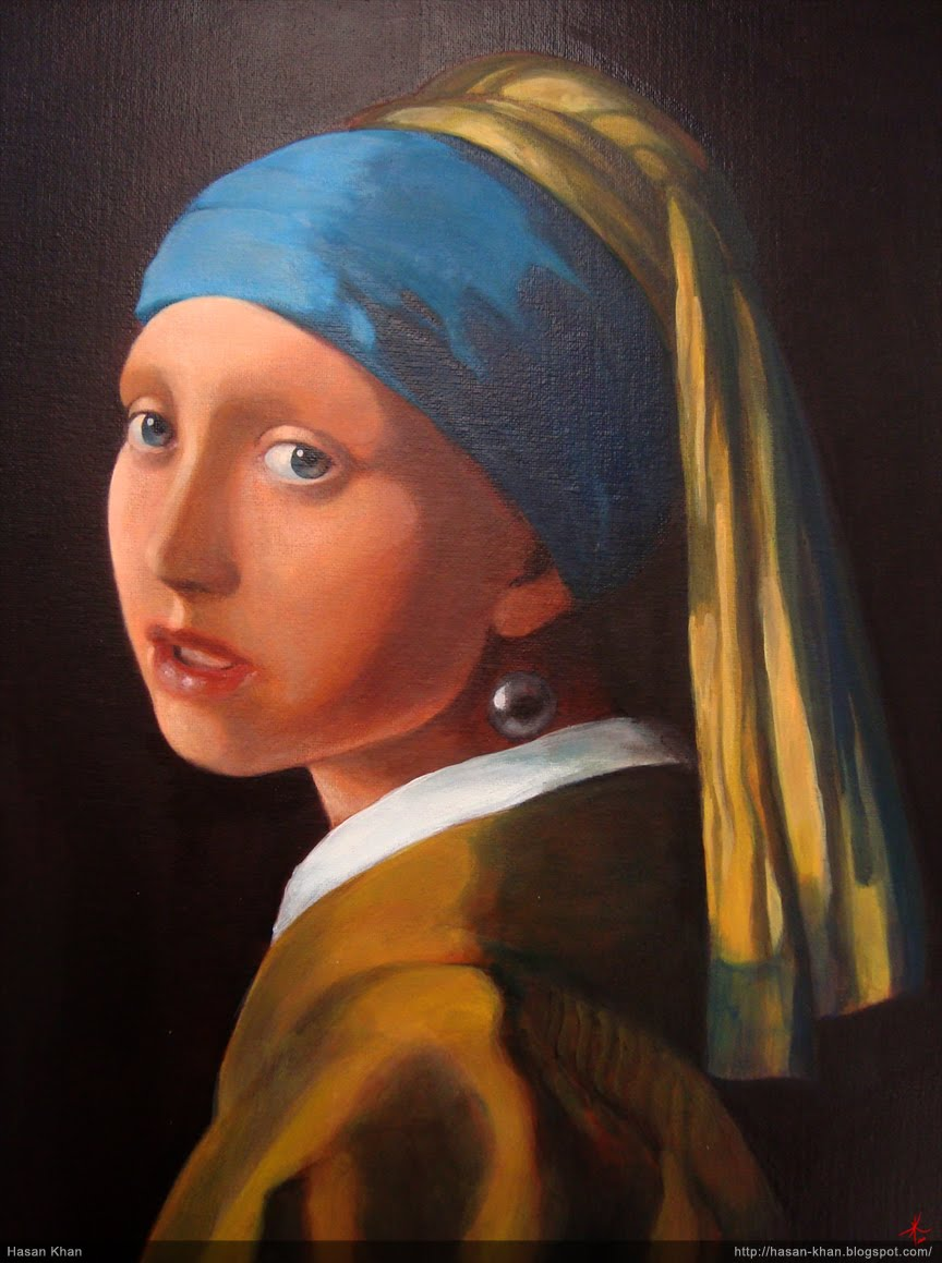 With A Pearl Earring, Painted By Johannes Vermeer, A Dutch Painter  This Painting Is Sometimes Referred As