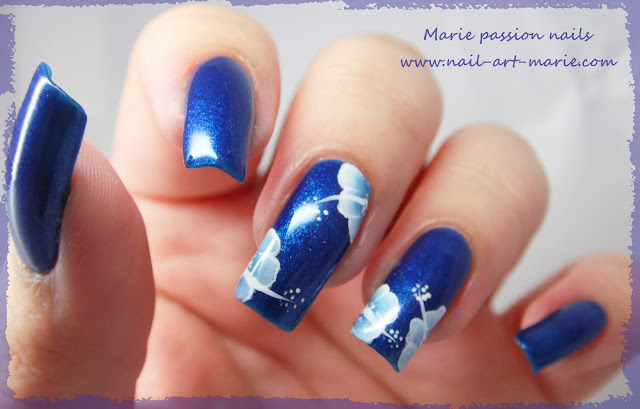 nail art one stroke double accent nail7