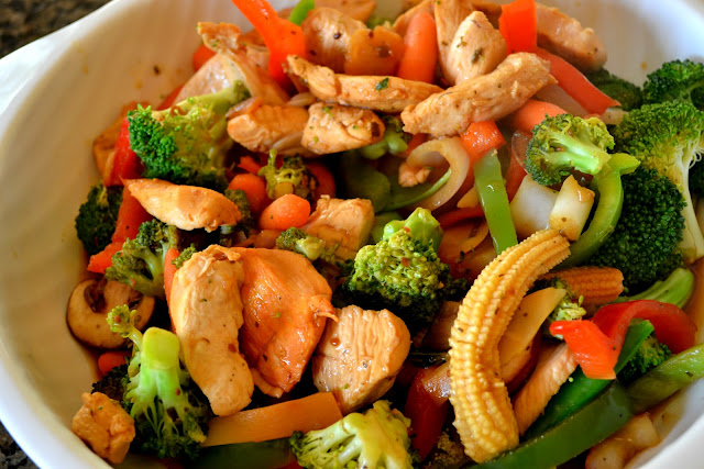#FrozenFavorites , healthy dinner, stir fry
