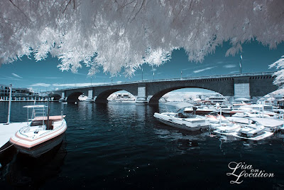 London Bridge, Lake Havasu City, Arizona, false-color infrared, New Braunfels photographer