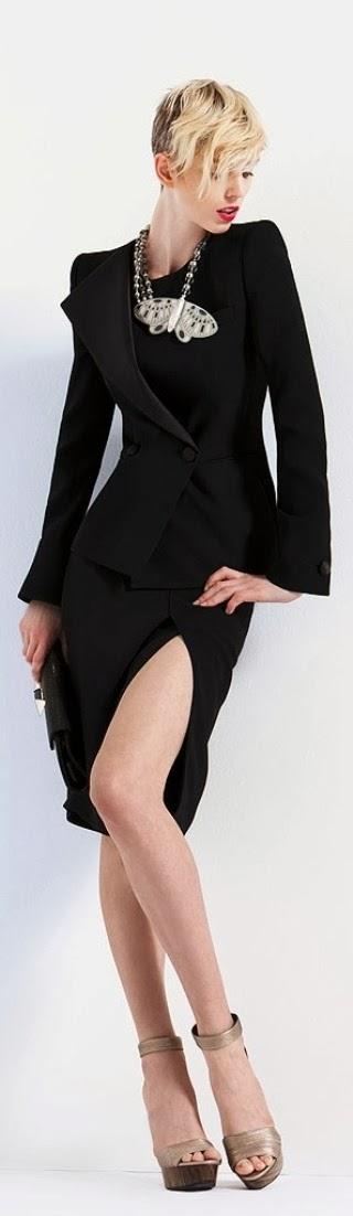 Amazing black dress - Giorgio Armani 2013 collection