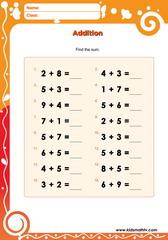Soal Latihan Matematika Penjumlahan Untuk Anak Usia Dini Pendidikan