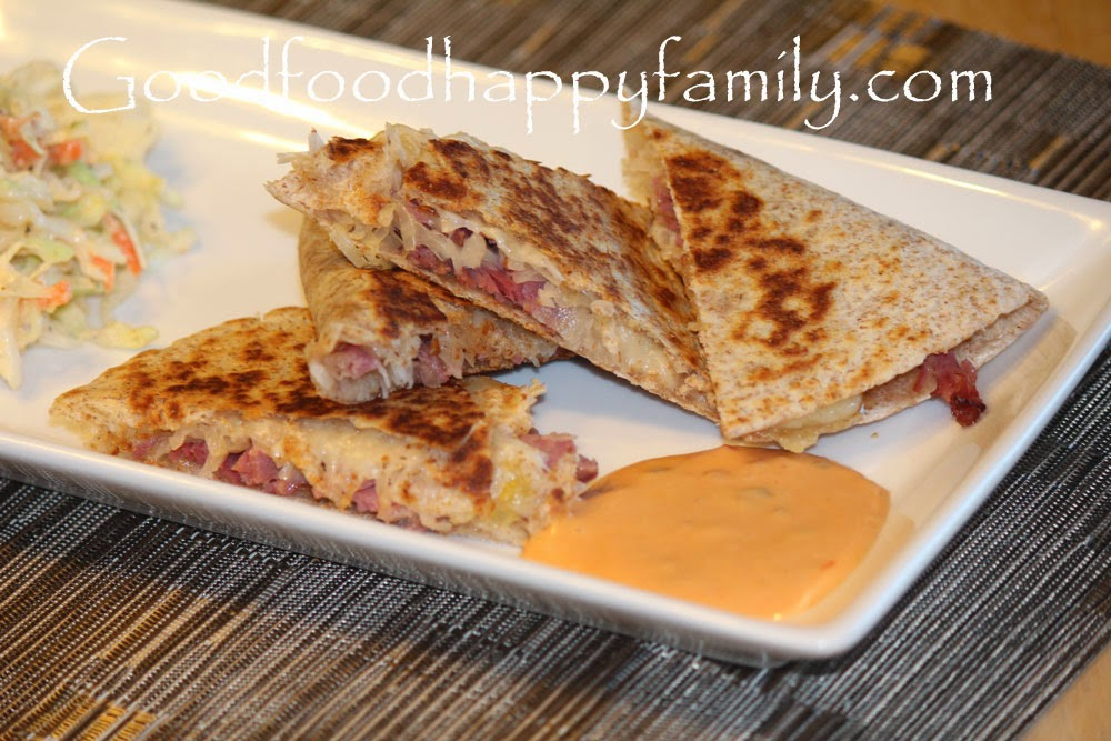 Reuben Quesadillas Recipes — Dishmaps
