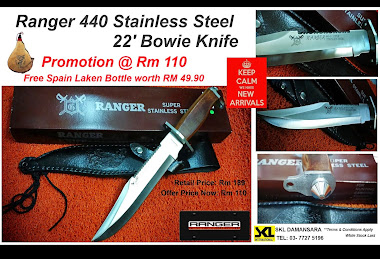 Ranger Bowie Super Stainless Steel 440A Tactical Survival Knife promotion@ RM 110 Only!!