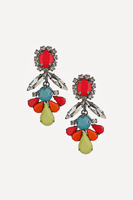 topshop bright drop earrings