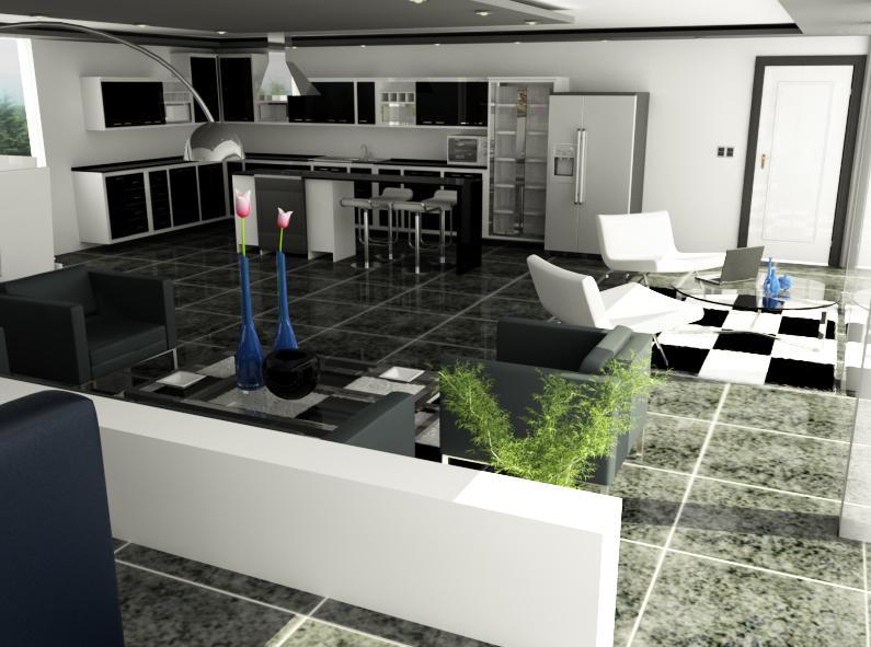 Muebles de dise o moderno y decoracion de interiores for Diseno de interiores en 3d
