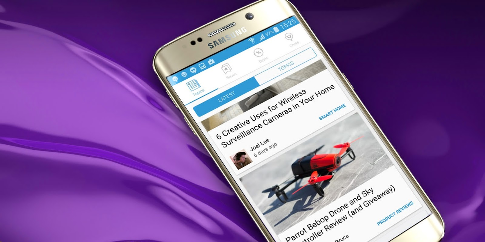 Giveaway: Win a Samsung Galaxy S6 Edge from MakeUseOf