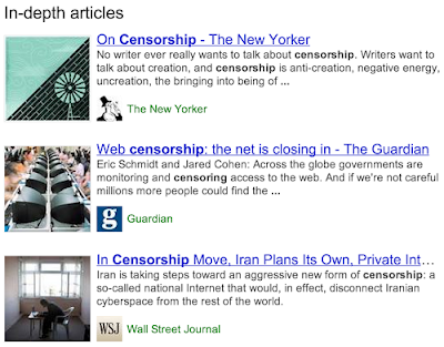In-depth Articles feature of Google For Search Results
