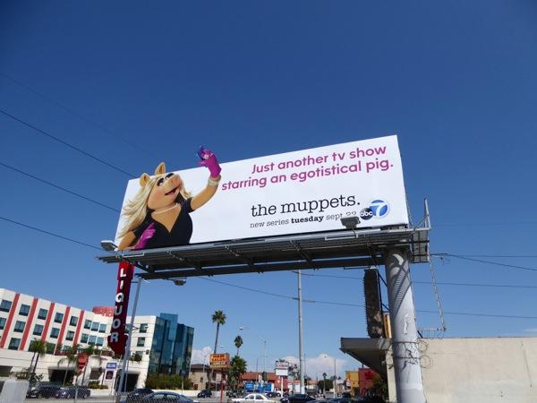The Muppets Miss Piggy selfie billboard