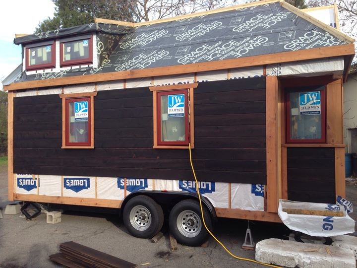 Enough blah blah  here are the pictures. Long Story Short House  Shou Sugi Ban Siding going UP
