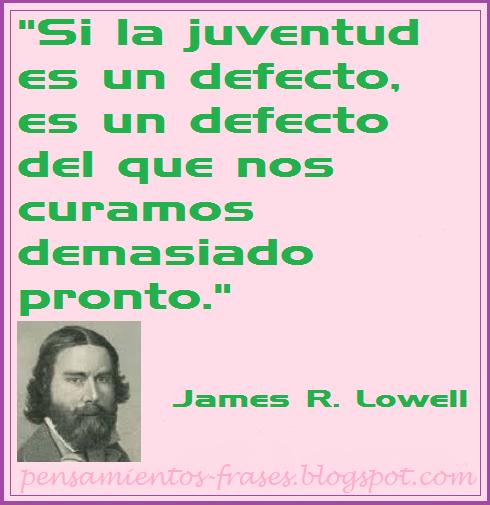 frases de James R. Lowell