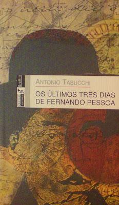 capa de 'Os Últimos Três Dias de Fernando Pessoa' de Antonio Tabucchi