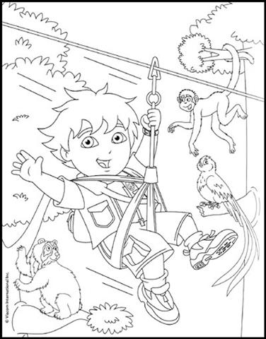 Go Diego Go Coloring Pages | Color Udin