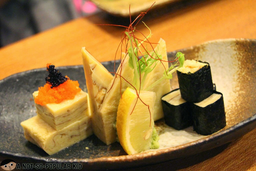 Tamago Sashimi in Yumi Japanese Restaurant