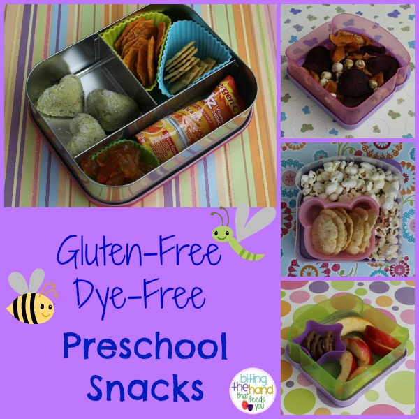 gluten free dye all natural preschool school snacks