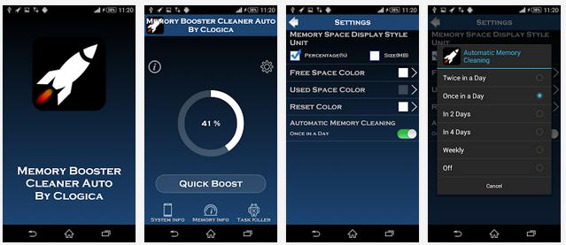 تطبيق مجاني لتسريع وتنظيف الأندرويد بشكل تلقائي Memory Booster Cleaner Auto APK