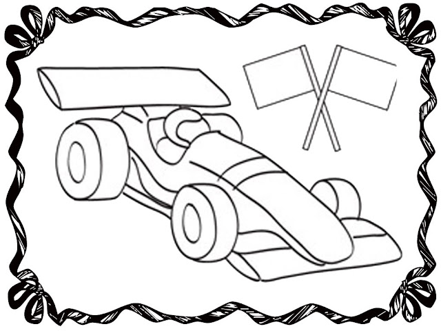 Blank Race Car Coloring Pages