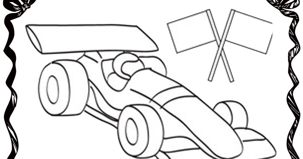 Realistic Car Coloring Pages : Blank race car coloring pages realistic