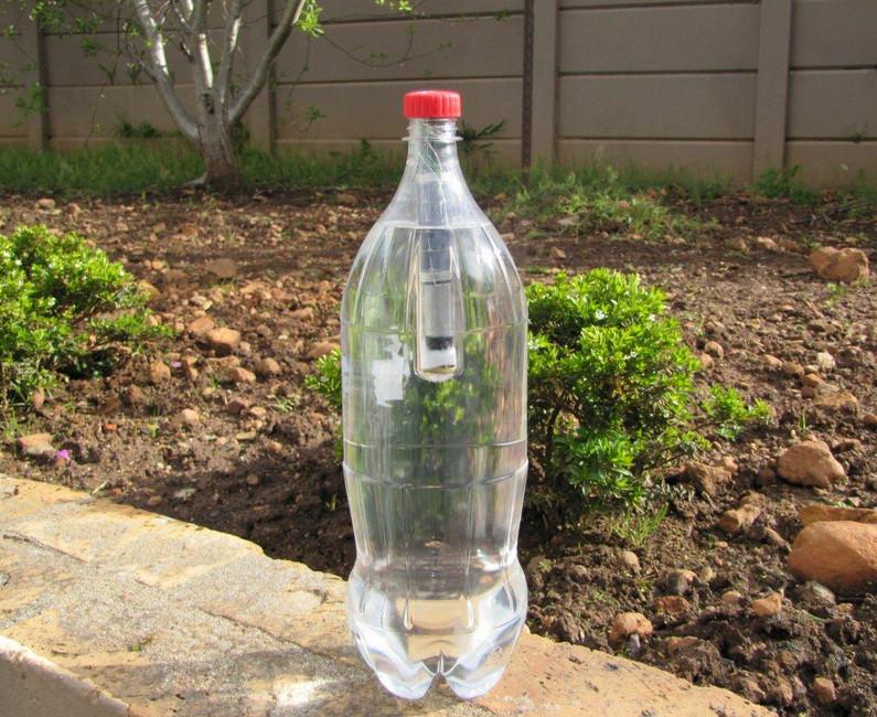 Как сделать из одной пластиковой бутылки сделать светильник
