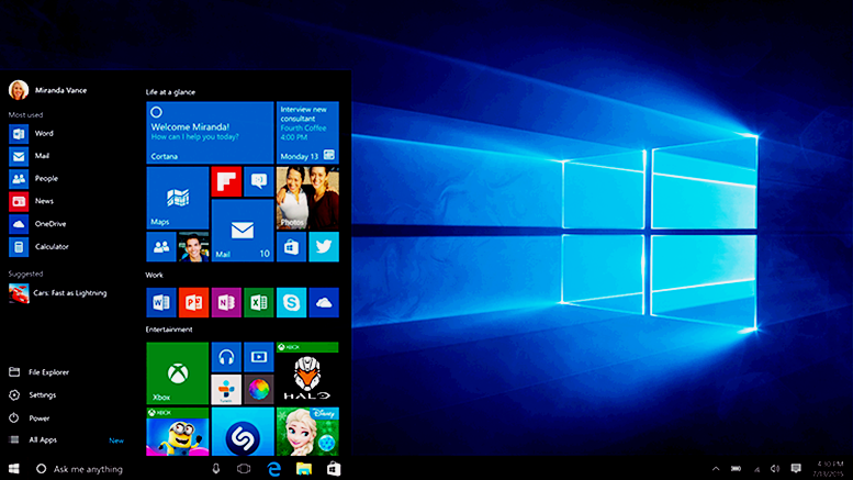 Image Windows 10 new screen desktop