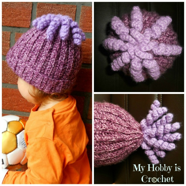 My Hobby Is Crochet Octopus Curly Cue Embellishment For Hats