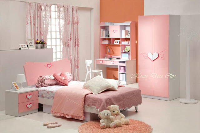 chambre jeune fille d coration chambre de fille. Black Bedroom Furniture Sets. Home Design Ideas