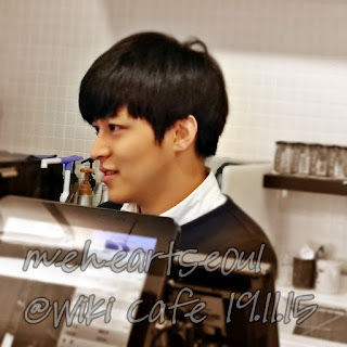 Sungmin's   younger brother - Sungjin at Wiki Cafe. | www.meheartseoul.blogspot.sg