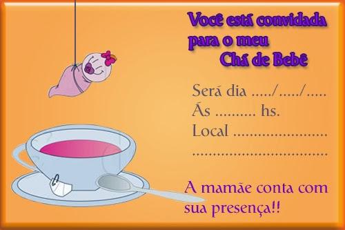 Convite para chá de bebê para imprimir 1