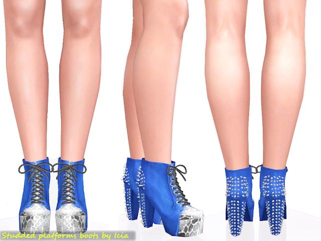 Lita Platforms by Icia Spike+litas+blue