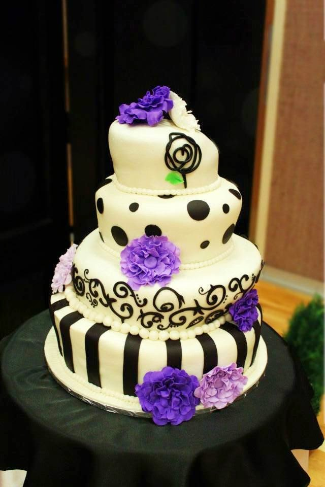 Layers of Love: Purple Mad Hatter Wedding cake
