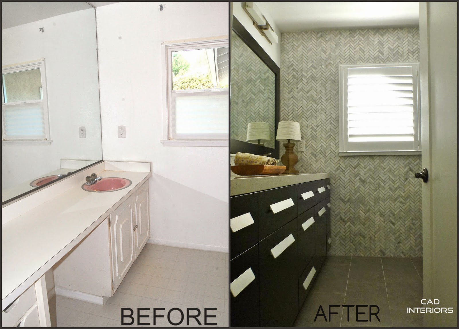 CAD INTERIORS Affordable Stylish Interiors - Before and after bathroom renovations