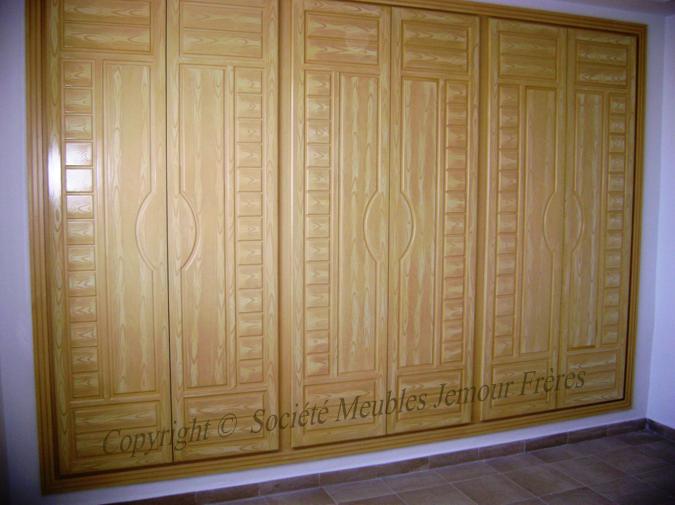 Placard mural en mdf brut soci t meubles jemour fr res - Placard mural synonyme ...