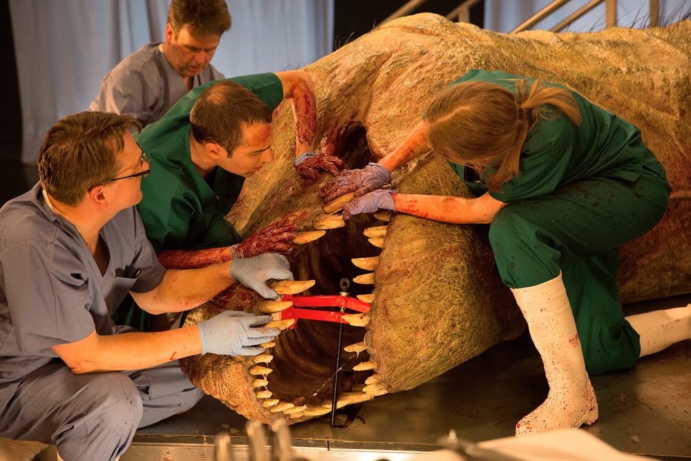 Scientists carry out 'autopsy' on life-sized T-Rex replica