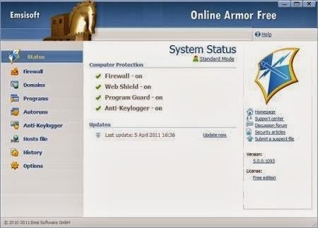 Emsisoft's Online Armor Free