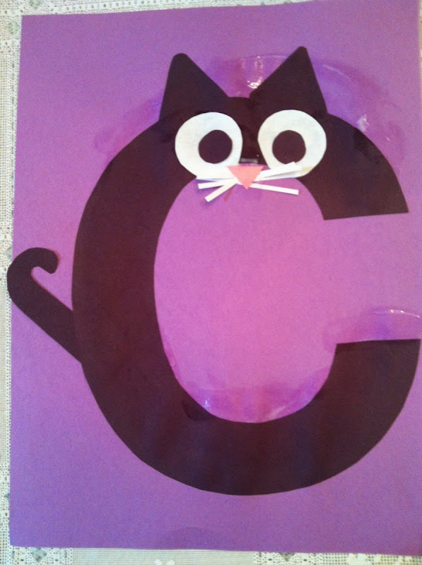 C Is For Cat on E Is For Elephant Preschool Craft