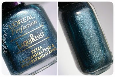 L'Oreal 293 Shiny Nightblue vintage blue detail
