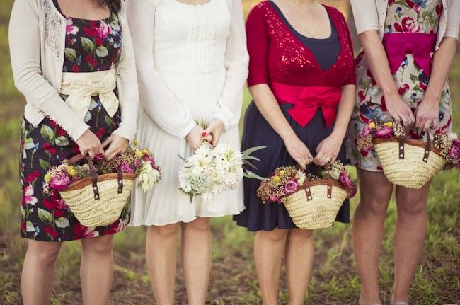 eco-wedding bridesmaids